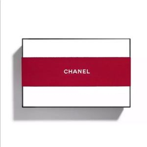 New. CHANEL Signature Gift Box with Red Ribbon